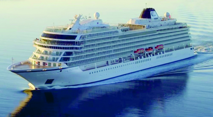 The new luxury cruise ship Viking Sun will arrive in Melbourne on February 8.