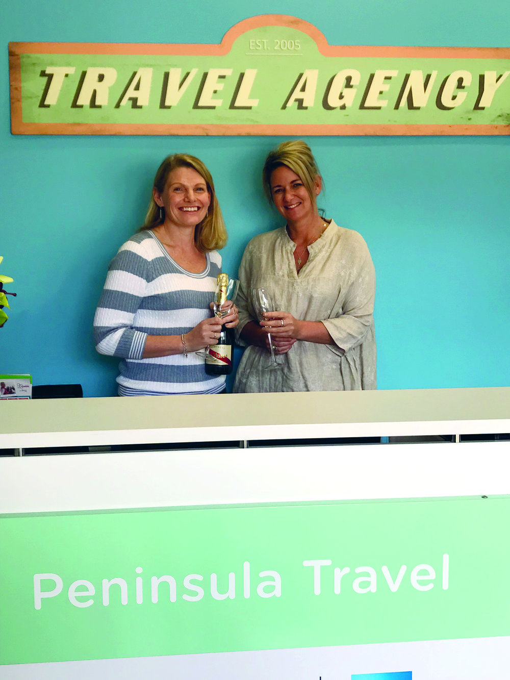 Allison, right, has taken over from Michele at Peninsula Travel.