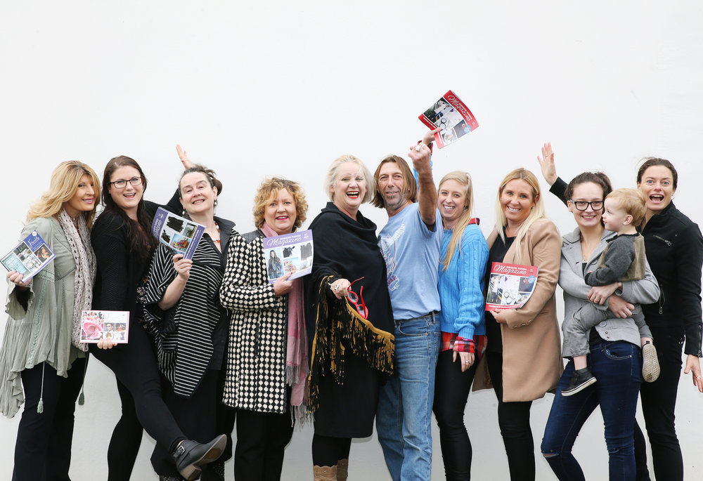 Left to Right: Anna, Georgiou, Kate Sears, Liz Rogers, Belinda Scott, Lisa Walton, Archie Mitchell, Molly Mitchell, Chendelle Kolasa, Jasmine Forecast with Connor and Tanya Fry