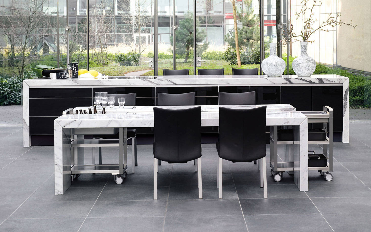 Contemporary stone dining table - Dining Table Contemporary Mdf Natural Stone 49455 4780267