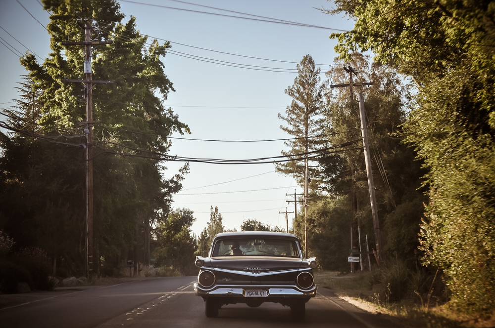 Chevy fairlane 500 on River Road 116, California.jpg