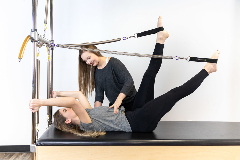 IndividualPilatesSessions - Whether it's helping you rehabilitate an injury, change poor postural habits, gain a competitive edge as an athlete, or just alleviate muscle imbalances and stress, we offer private, and rehabilitative sessions with our owner, master or expert instructors.Individual sessions include a customized program designed to meet your needs and goals. Your program will address injuries, chronic pain, weakness, as well as areas needing specialized attention.