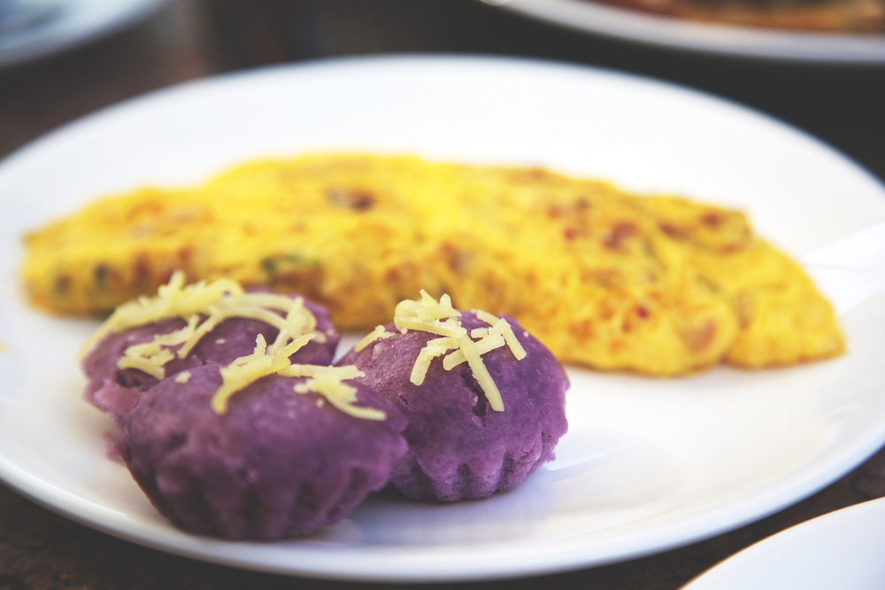Ube and an omelet. My mouth is watering.