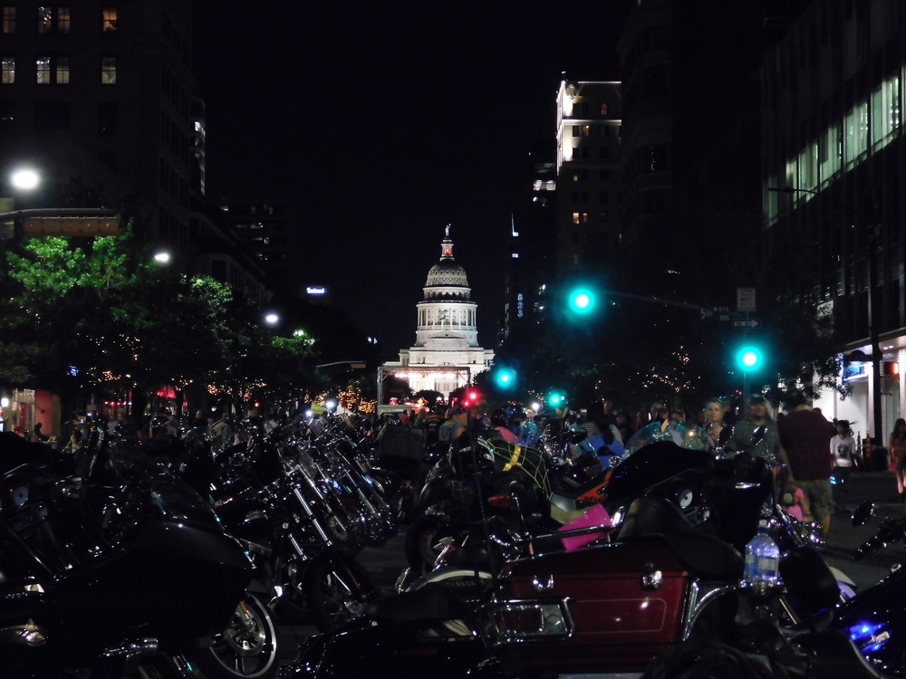 Motorcycles On Congress Avenue