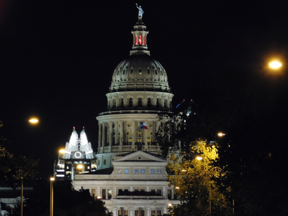 Texas Capitol And Frost Bank Tower