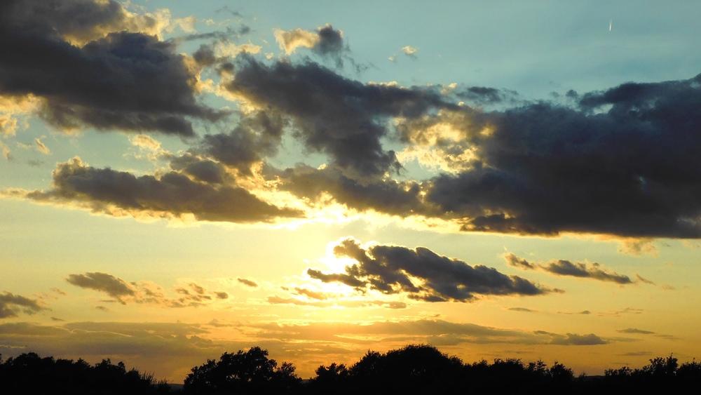 Orange And Blue Sunset