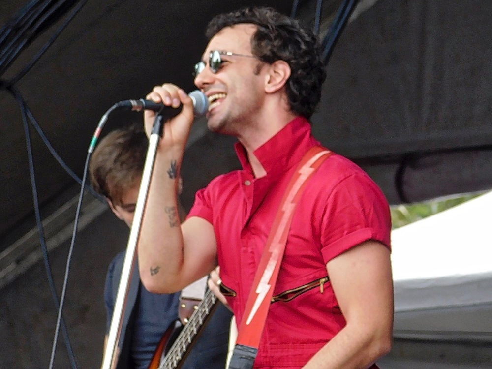 Albert Hammond Jr, formerly of The Strokes, on the HomeAway stage. He played mid-afternoon an drew a very large crowd. High energy, alternative rock n' roll.