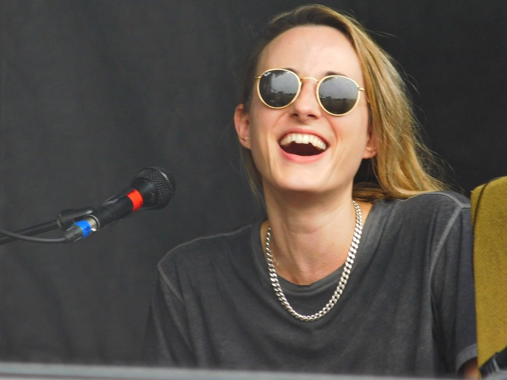 The Macabees' keyboardist Rebekah. She was in the back but I could tell she was loving the experience based on her broad smiles.
