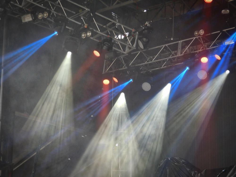 Closeup of the Whiskey Myers' lights. After music, I judge bands on their lights. ;)