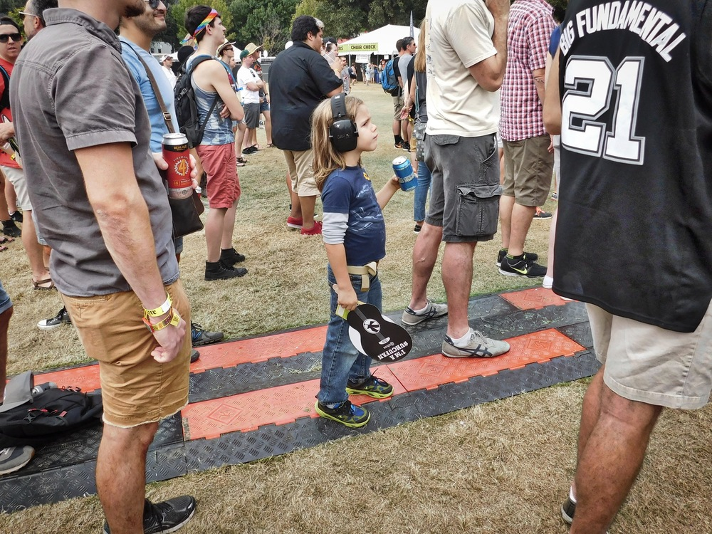 This kid is ready for a music festival. Heck, he was more ready than I was!