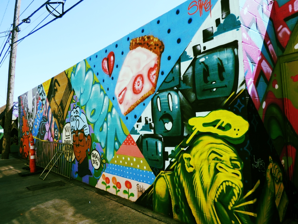 This mural is a recent collaboration amongst a group of some of Austin's most creative mural and street artists.
