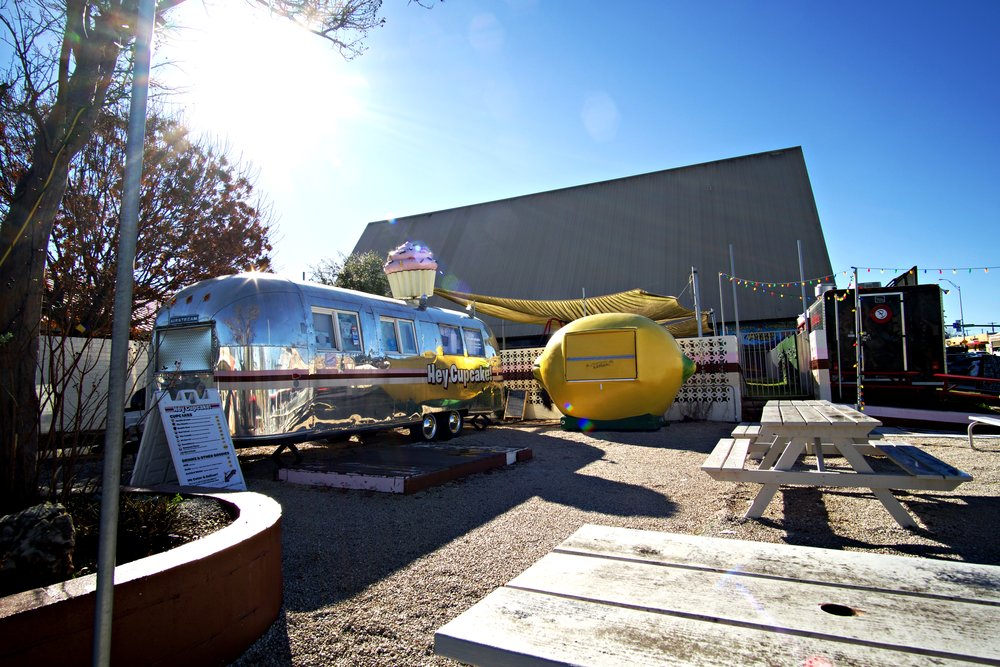 While development has cut down on the number of food trucks and trailers on South Congress, popular trailer Hey Cupcake lives at 1511 South Congress.