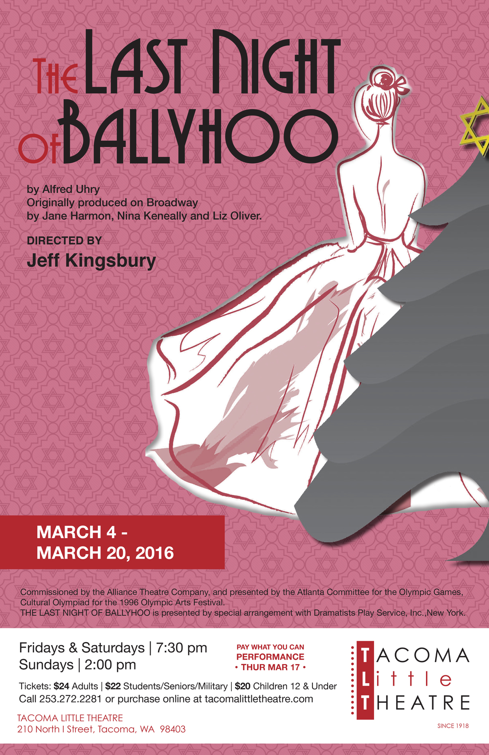 the last night of ballyhoo Jobsite theater's production of the last night of ballyhoo by alfred uhry runs sep 3–28, 2014 in the shimberg playhouse, straz center.