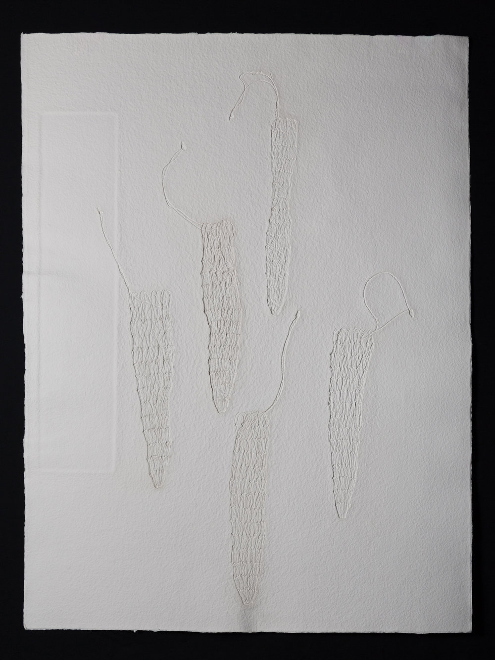 "Remainder , 2017, cast cotton paper, 30"" x 22"""