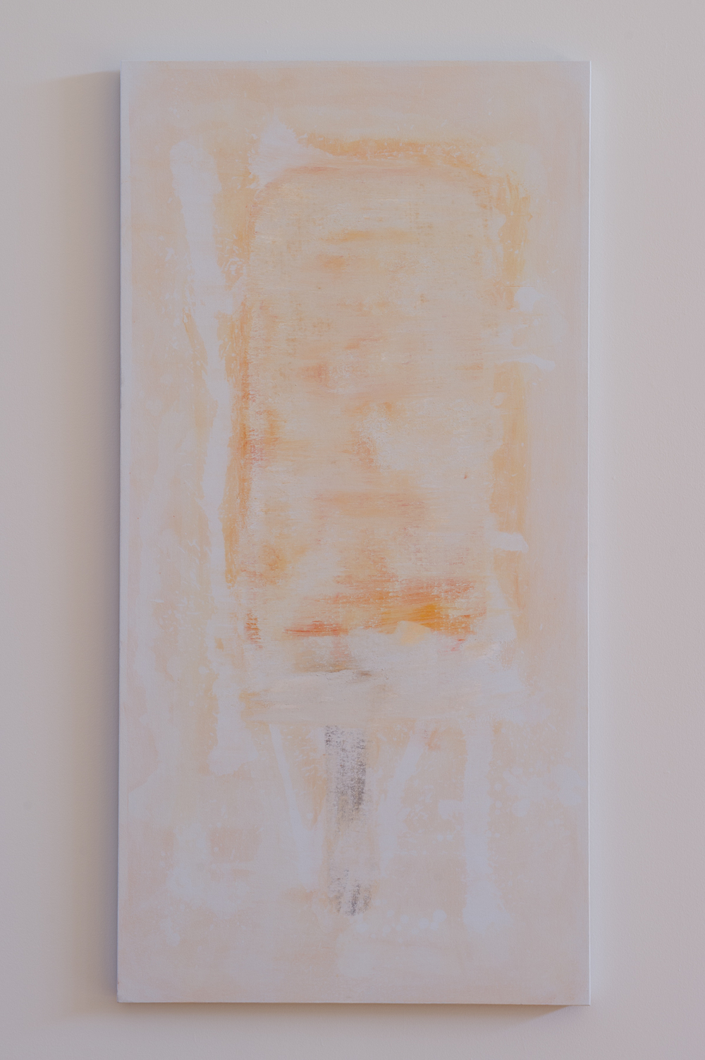 Erased Creamsicle (after Rauschenberg)