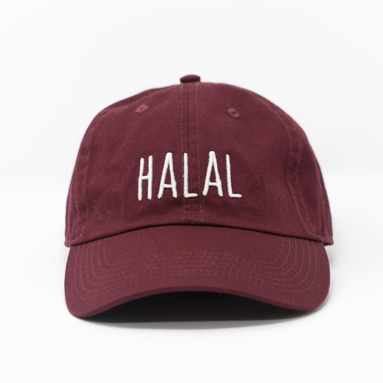 688e0eadb8aa4 HALAL Dad Hat - Maroon — Atif Ateeq