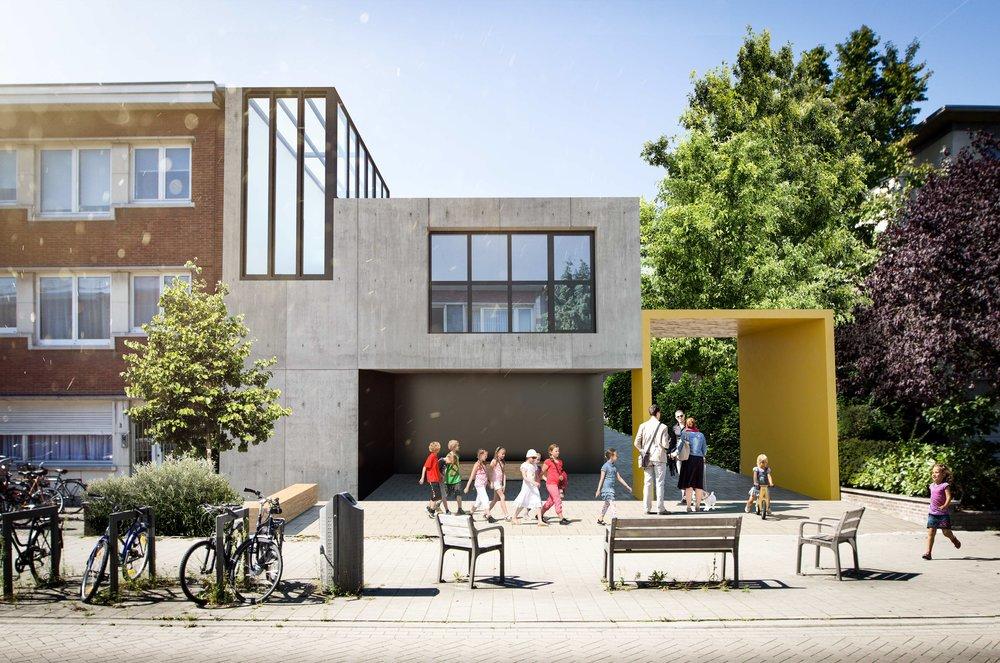 3d visualisatie exterieur - School - Stanislas