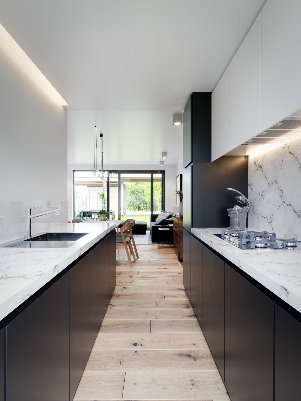 3d visualisatie - exterieur - interieur - keuken