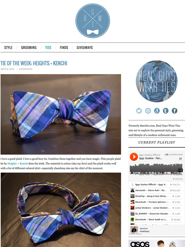 Tie of the Week: Heights + Kenchi