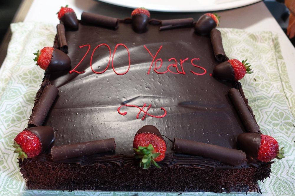 Celebration cake - 200 years