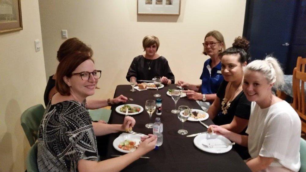 Members enjoying meal and socialising