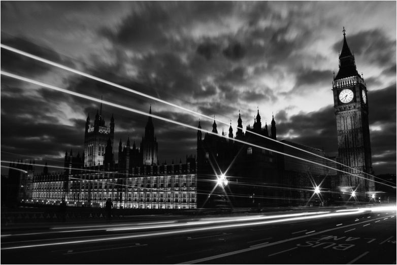 palace of westminster bw