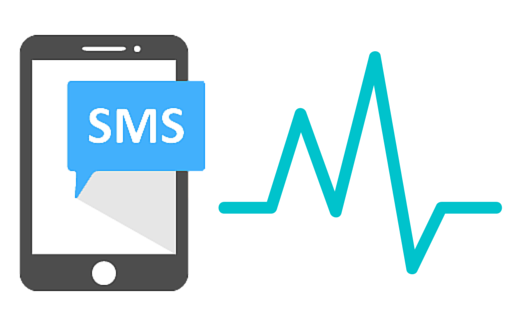 sms phone with heartbeat pulse