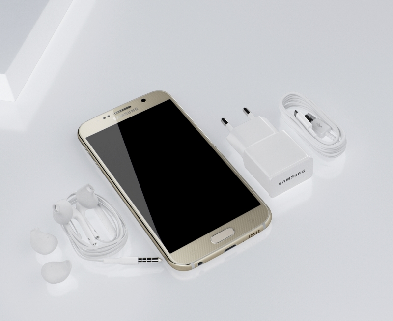 samsung galaxy s6 with accesories