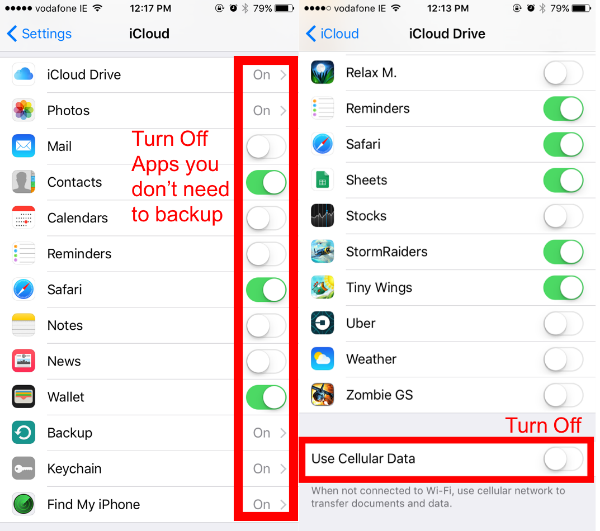 How to set data restrictions on iphone