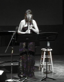 Performing New York Counterpoint at Carnegie Mellon University.