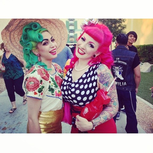 pink rockabilly hair and green rockabilly hair.jpg