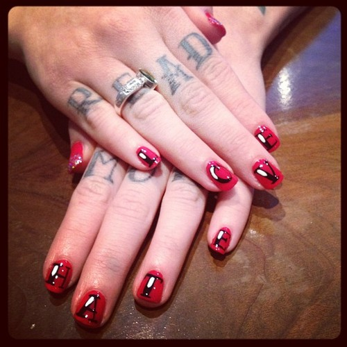 Tattoo nail art at rockalily cuts tattoo nail art at rockalily cuts prinsesfo Image collections