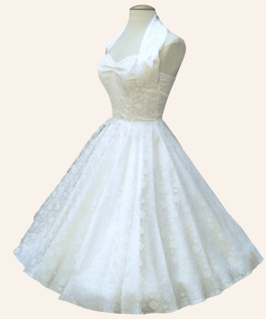 Rockabilly and vintage style wedding dresses for Pin up inspired wedding dresses