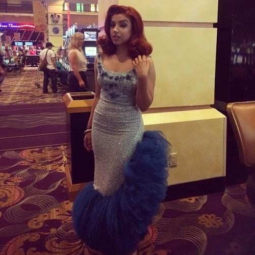 amazing vintage blue glitter dress.jpg