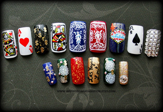 Las vegas weddings tacky is only optional las vegas themed nails prinsesfo Gallery