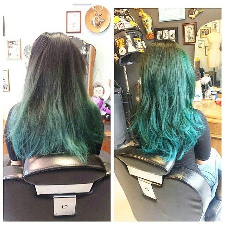 blue dip dye sabrinaaa