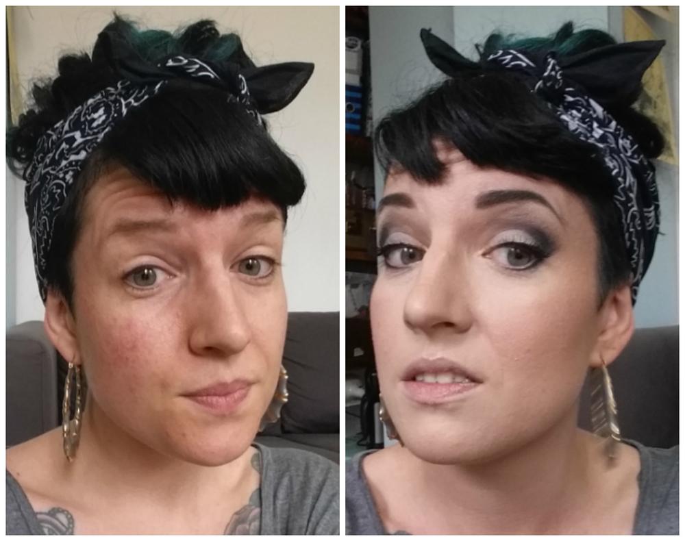 cut crease rockabilly make up