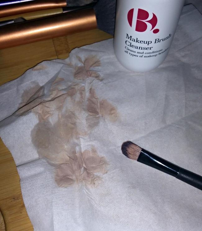 b makeup brush cleaner
