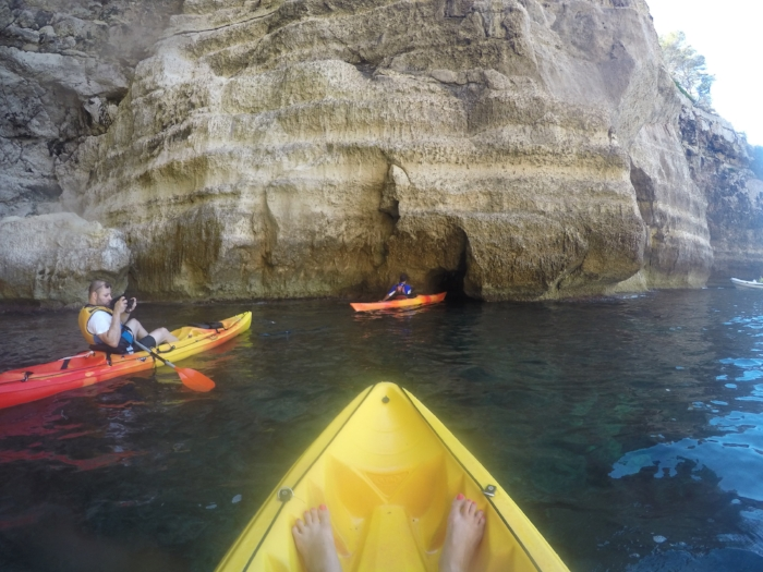 cave kayaking in menorca