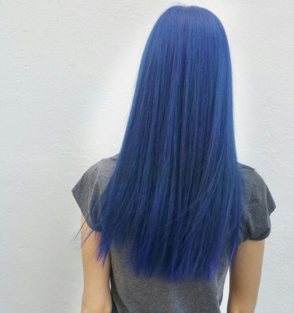 Blue hair in london