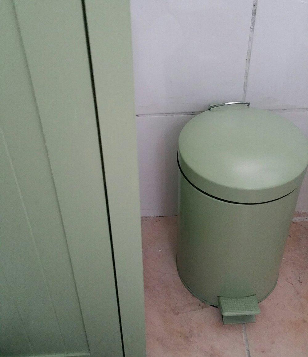 avocardo green painted bathroom