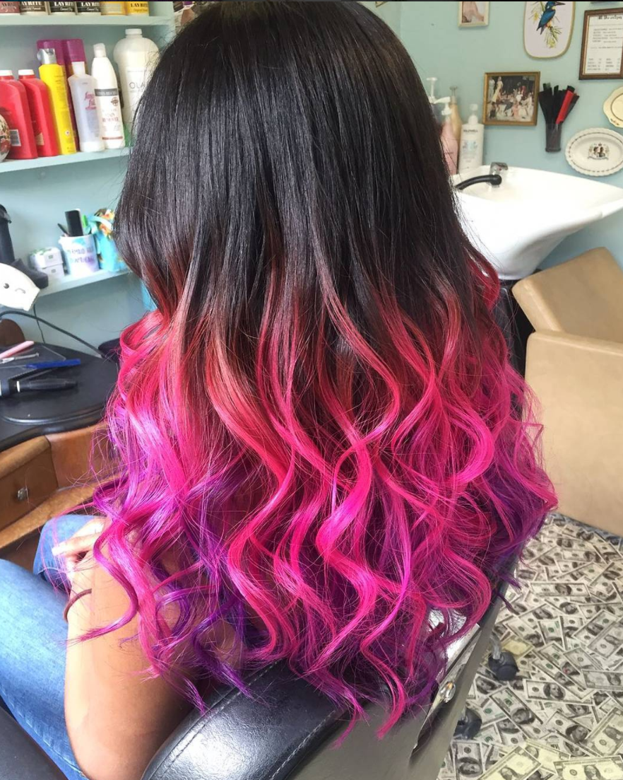 rainbow dip dye london