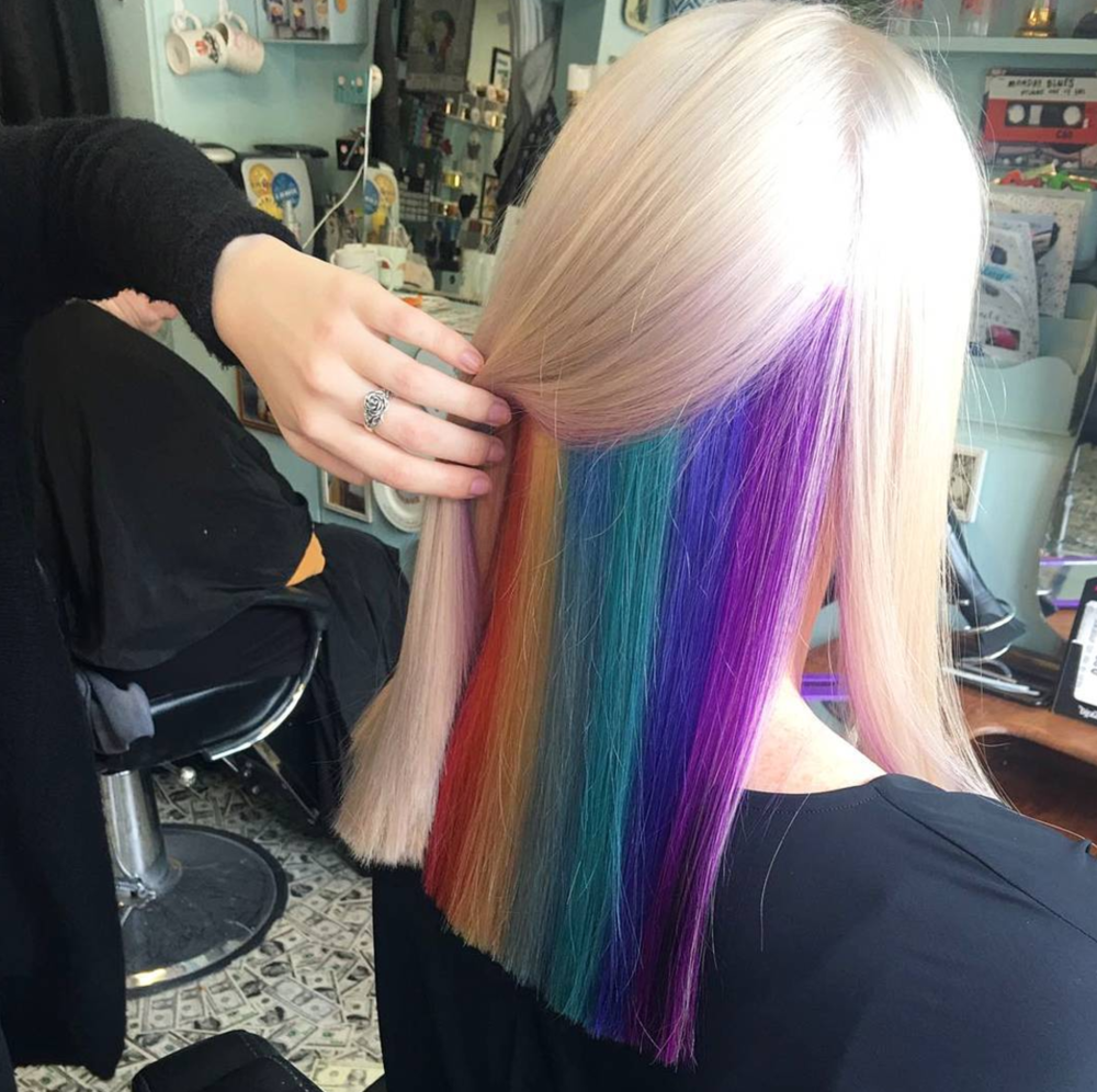rainbow hair london