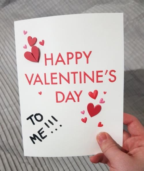 valentines alone