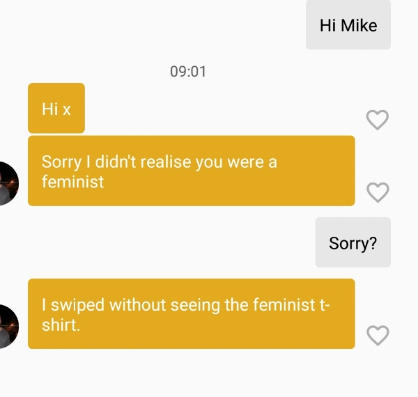 feminists on bumble