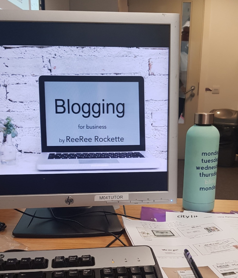 blogging workshop at citylit