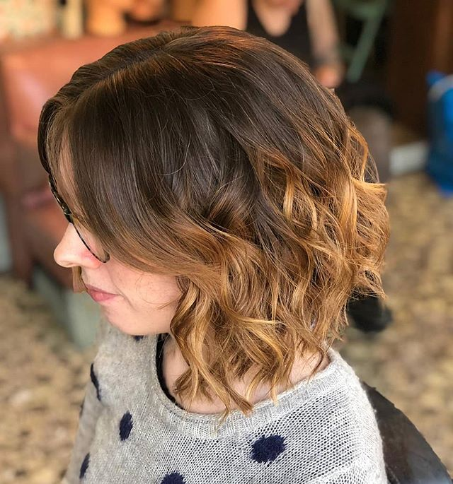 Soft balayage from @charley_todd_hair warming our cockles #rockalilycuts #hoxton #eastlondonhair #olaplexlondon