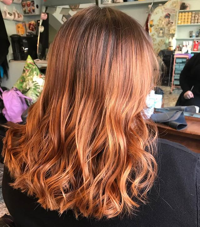 Chestnuts roasting on an open fire. Lit by @zoe_lelic_hair #rockalilycuts #shoreditch #hoxton #londonhair #loreal #newhairplease