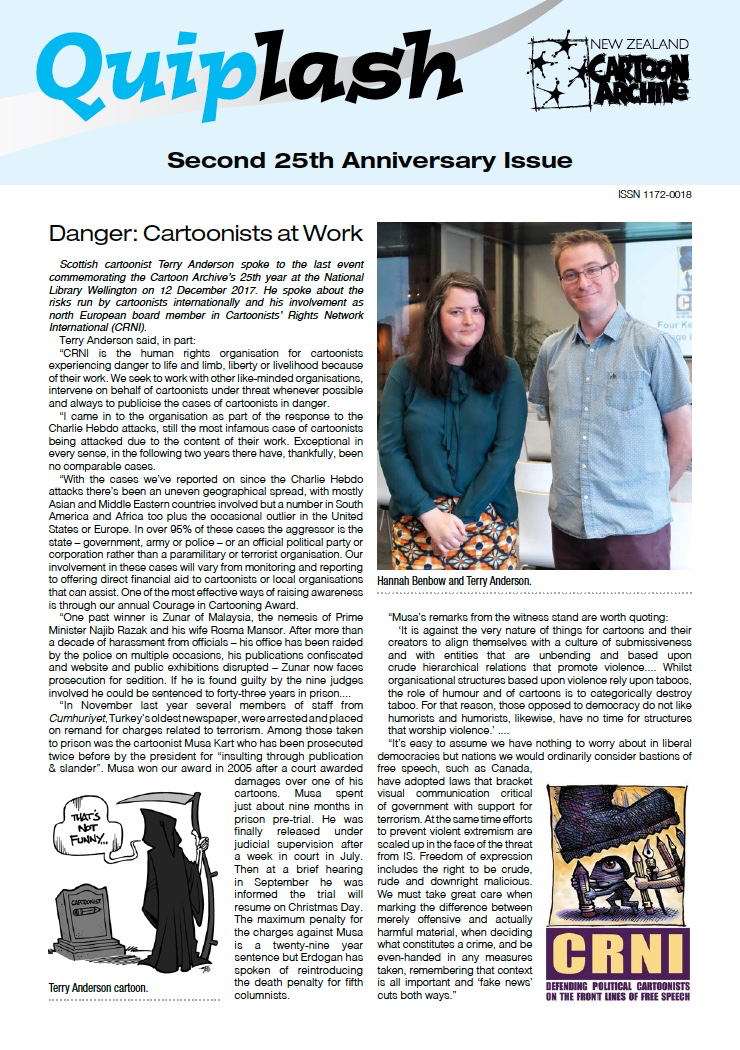 The NZCA's newsletter following my talk in December.