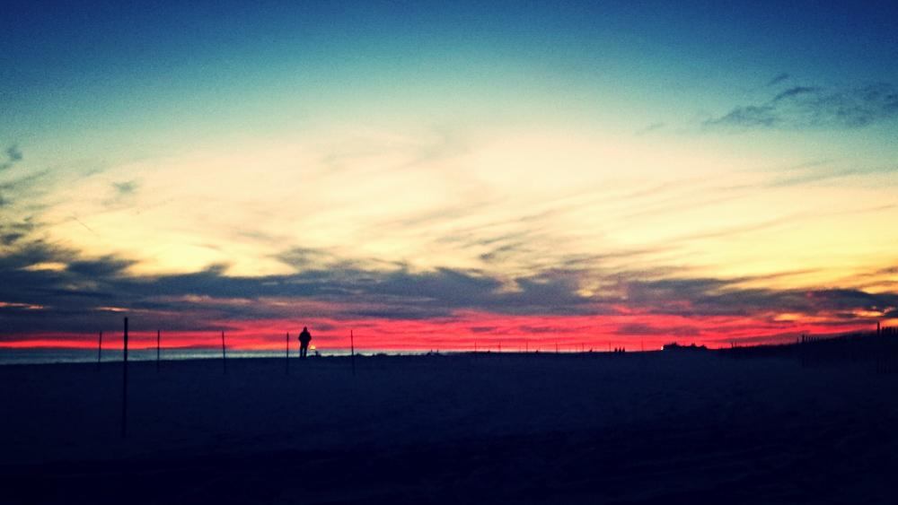 patriotic winter sky